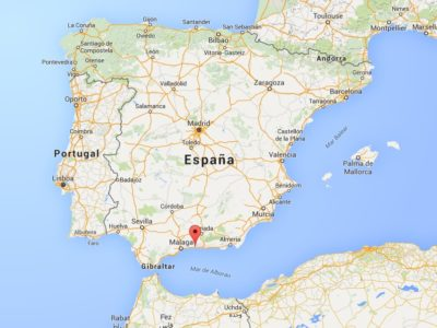 Location of Nerja in Spain